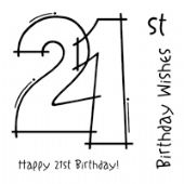 Woodware - 21ST Birthday - Clear Magic Stamp Set - FRS131